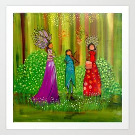 Spring Ladies Art Print