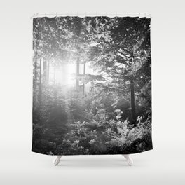 Sundown in the Forest Shower Curtain