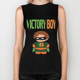 Inspirational Victorious Tee Design VICTORY BOY Biker Tank