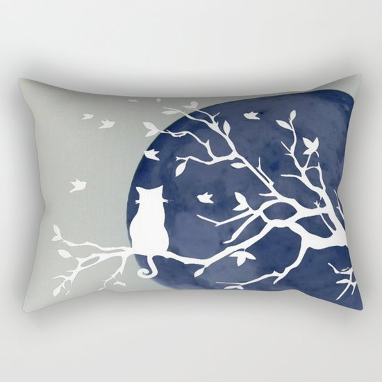 Blue moon | Dark moon | Cat on tree branch | Witchy cat | Wicca by gypsydreams06