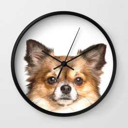 Chihuahua Portrait Wall Clock