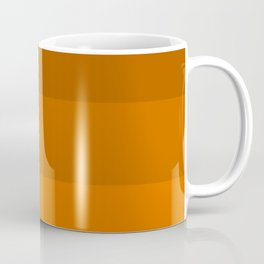 Orange Brown Stripes Coffee Mug