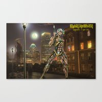 iron maiden Canvas Prints featuring Iron Maiden by Rassva