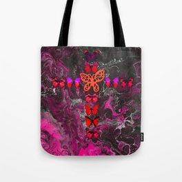 Pink Fire Cross Tote Bag