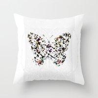 broken Throw Pillows featuring Broken by J.Lauren