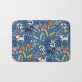 Cats & Flora Bath Mat