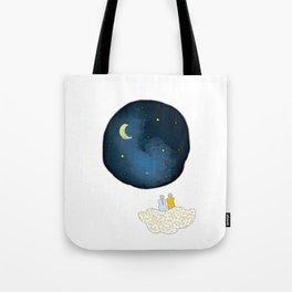 La tête dans les étoiles by Vanessa Art créations Tote Bag
