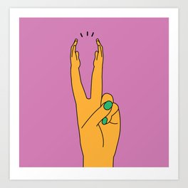 Clapping Fingers Art Print