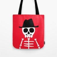 skeletor Tote Bags featuring El Skeletor by David Allart