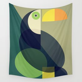 Mid Century Toucan Wall Tapestry