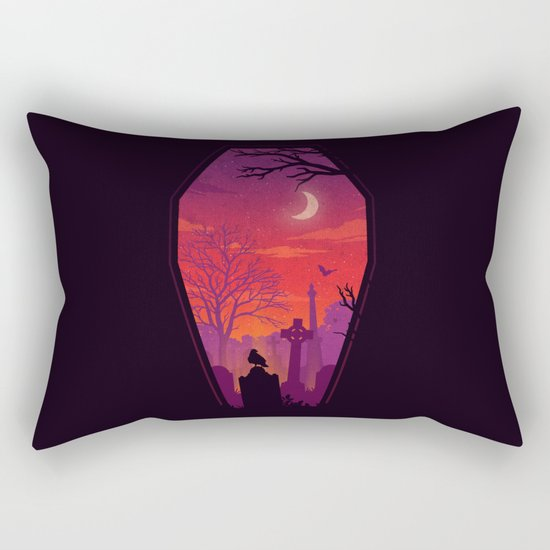 To The Grave Rectangular Pillow