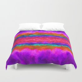 Colors on Fire Duvet Cover