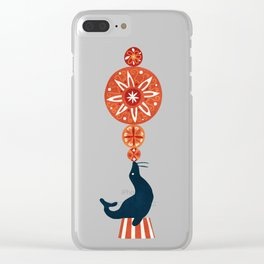 Circus Seal Clear iPhone Case