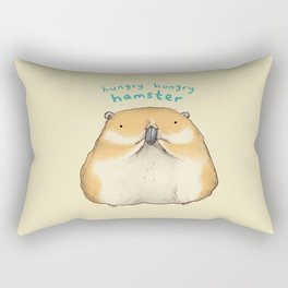 Hungry Hungry Hamster Rectangular Pillow