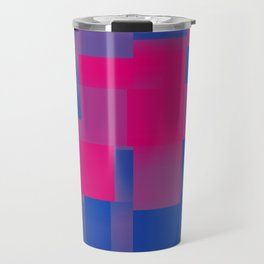 Bisexual Pride Abstract Overlapping Gradient Squares Travel Mug
