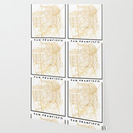 SAN FRANCISCO CALIFORNIA CITY STREET MAP ART Wallpaper