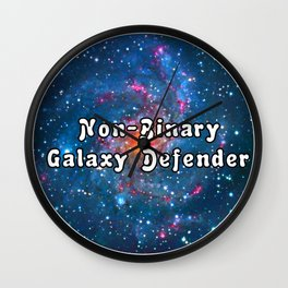 Non binary galaxy design Wall Clock