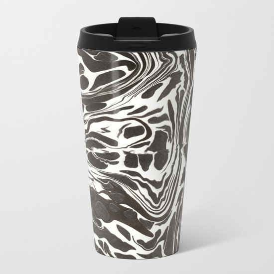 Suminagashi 09 Metal Travel Mug
