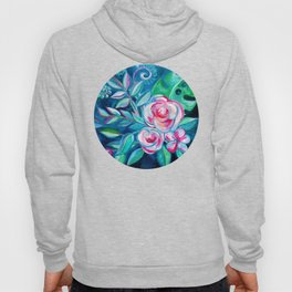 Tropical Camellia Extravaganza - oil on canvas Hoody
