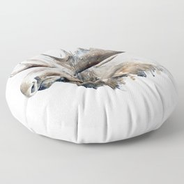 The king of the forest Floor Pillow