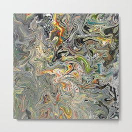 Abstract Oil Painting 25 Metal Print