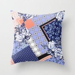 Scarf print Throw Pillow