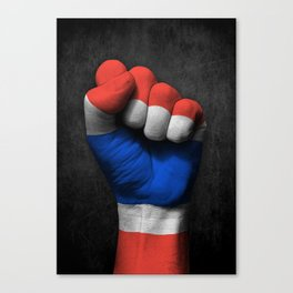 Thai Flag on a Raised Clenched Fist Canvas Print