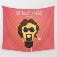 lebowski Wall Tapestries featuring  The Big Lebowski by BajuKhaju
