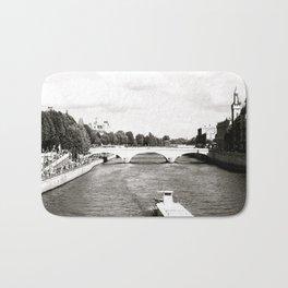 Paris La Plage on the Seine, 2003 B&W Bath Mat