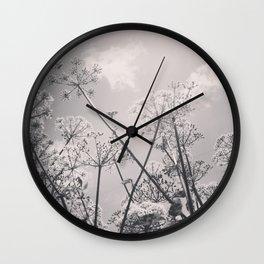 Cow Parsley Wall Clock