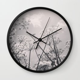 Cow Parsley Wall Clock