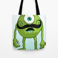 mike wrobel Tote Bags featuring Mike by Satanoncrack
