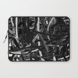 Black & White Abstract III Laptop Sleeve