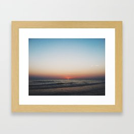 last drop sunset Framed Art Print