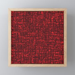 Fibre Mesh Pattern (Red) Framed Mini Art Print