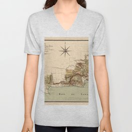 Map Of Dominican Republic 1807 Unisex V-Neck