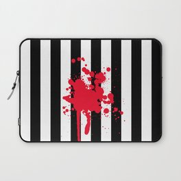 Black and White and Red All Over Laptop Sleeve