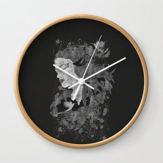 Cosmic dreams (B&W) Wall Clock