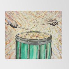 Snare Drum Watercolor Throw Blanket