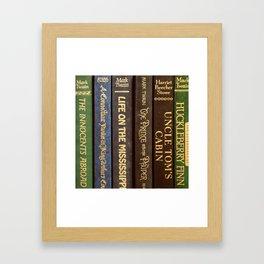 Old Books - Square Twain Framed Art Print