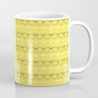 glasses Mugs featuring Glasses by C Designz