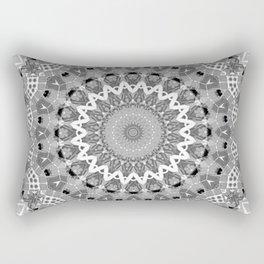 Black and white mandal Rectangular Pillow