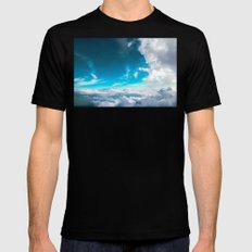 Clouds SMALL Mens Fitted Tee Black