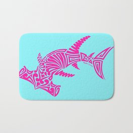 Nancy's Hot Pink Tribal Hammerhead Shark Bath Mat