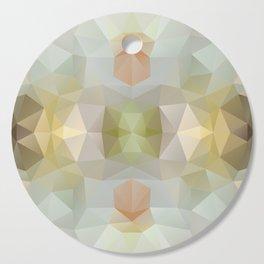 Triangles design in soft colors Cutting Board