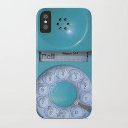 Aqua Hotline iPhone Case