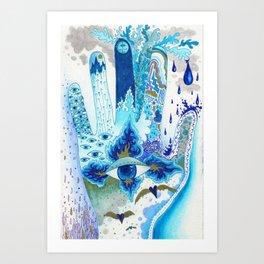 Hand of Protection Art Print