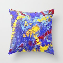 Worm Galaxy Throw Pillow