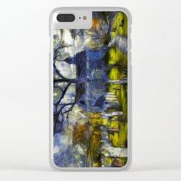 Sleepy Hollow Church Art Van Gogh Clear iPhone Case