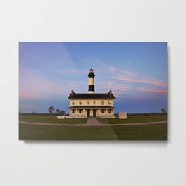 Bodie Island Lighthouse at Sunset Metal Print